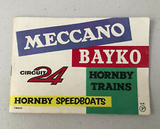 MECCANO Bayko circuit 24 Hornby Trains Hornby vedettes rapides catalogue uk7/263/400