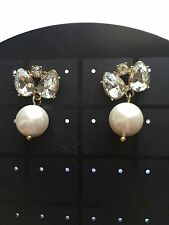 J. Crew Pearl Jewel Box Earrings (White) Wedding Earrings
