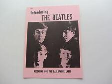 THE BEATLES 12 comunicato stampa pagina per Love me do