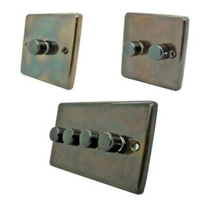 Aged Antique Brass 100w LED Dimmers - Dimmer Switch for LED Bulbs