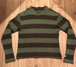 NIGEL CABOURN PULLOVER RUGBY STRIPED ARMY GREEN (Heritage)