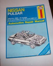 Haynes 876 Nissan Pulsar 1983-1986 All models Automotive Repair Manual