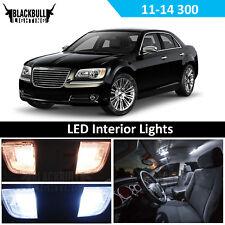 White Interior LED Light Accessory Kit for 2011-2014 Chrysler 300 300C MAP DOME