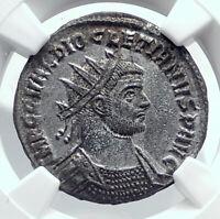 DIOCLETIAN w MAXIMIAN Authentic Ancient 292AD Original Roman Coin NGC i81686