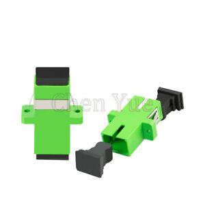 100pcs SC APC Simplex Single-mode Fiber Optic Adapter SC Optical Fiber Connector