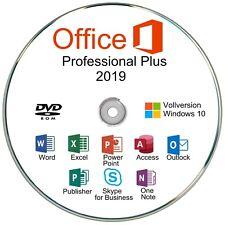 Microsoft Office 2019 Professional Plus, DVD + Key/Produktschlüssel, MS Office