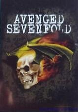 "AVENGED SEVENFOLD  Rock flag/ Tapestry/ Fabric Poster  ""Flying Deathbat""  NEW"