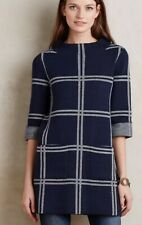 Anthropologie Paned Sweater Tunic by Moth Blue Sizes SP-LP NEW