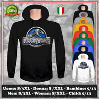FELPA JURASSIC WORLD ART DRAWING MOVIE PARK DINOSAURI UOMO DONNA BAMBINO HOODIE