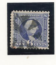 # 115, 6 cent ,1869 Black Wedge Cancel,with red in bottom left, V.F-X.F.
