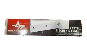 """All-Star Youth Pitchers Plate 18""""x4"""" Molded Rubber With 3 Spikes"""