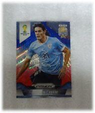2014 Panini Prizm World Cup Blue Red Wave Edinson Cavani - Uruguay #193
