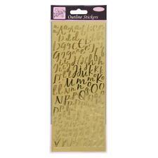 Modern Alphabet Letters Peel Off Outline Stickers Gold Cardmaking Crafts