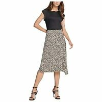 DKNY Women's Below The Knee Pencil Evening Skirt (Gray, Size 14)