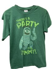 Vintage Yo Gabba Gabba There's a Party in my Tummy Mens T Shirt Small