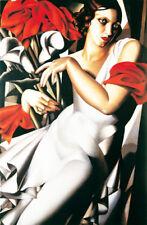 QUADRO  tamara de lempicka donna con le calle dipinto italiano olio su tela
