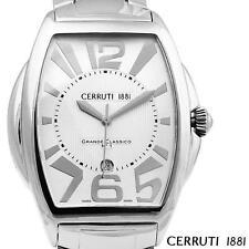 CERRUTI 1881 MEN'S GRANDE CLASSICO NO 1 SWISS WATCH NEW SS SILVER CT65471X403031