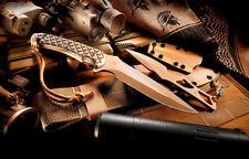 Spartan Blades Knife Ares FDE Blade Green Handle MultiCam Sheath