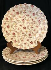 Copeland Spode Rosebud Chintz Dinner Plates - Set of four (4)