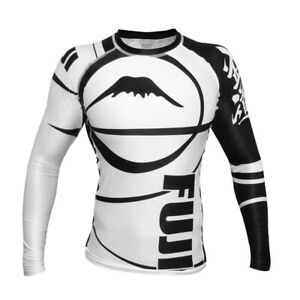 Fuji Sports Freestyle IBJJF Ranked BJJ Jiu Jitsu Long Sleeve LS Rashguard  White