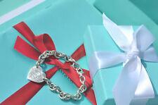 "AUTHENTIC Tiffany & Co. Return to Tiffany Sterling Heart Bracelet 7 1/2"" #F88"