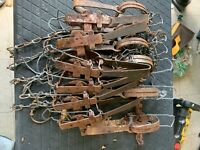 5 Vintage Animal Traps Hunting Trapping Cabin Decor Decoration