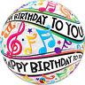 Qualatex JOYEUX ANNIVERSAIRE BULLE Ballons - Hélium Fête Ballon Décoration