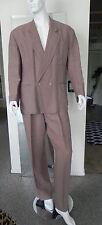 Vintage Claude Montana Couture Linen Jacket Pants Suit Size 52 Italy