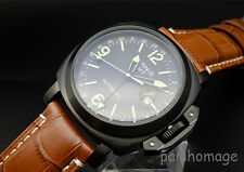 45mm luminous  Parnis 6497 hand winding  GMT mechanical  men's wrist watch