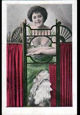 ARTISTE / dans sa LOGE avec PARAVENT avant 1904