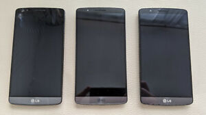 3pcs LG G3 D855 smart mobile phone for SPARES OR REPAIR