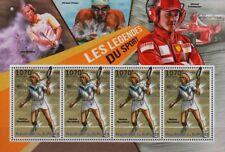 MARTINA NAVRATILOVA Wimbledon Tennis Player / Sport Stamp Sheet (2012 Burundi)