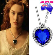 Wholesale Titanic Heart Of The Ocean Heart Sapphire Crystal Silver Tone Pendant