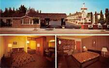 Palo Alto California exterior/interior views Sky Ranch Motel vintage pc Z20612