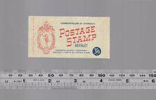 1950's Australian Stamp booklet 3'6 x 5 Queen Elizabeth II vintage commonwealth