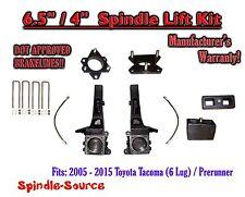 """2005 - 2016 Toyota Tacoma 6 Lug / Prerunner 6.5"""" / 4"""" Lift Kit Spindles, Brakes"""