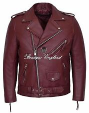 BRANDO Perfecto Jacket Mens Cherry Biker CLASSIC Fashion Real Cowhide Jacket MBF