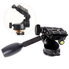 3Way Video Tripod Ball Head Fluid Rocker Arm+Quick Release Plate for DSLR Camera