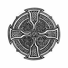 Celtic Cross roundel Sticker for Bumper Religious Car Laptop Tablet Door #03