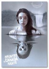 "2016 Canada Post ""Prepaid Worldwide"" Haunted Postcard Lady in White"
