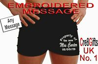 Personalised boxer shorts mens wedding anniversary MIXED Text Groom property of