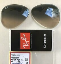 Authentic RAY BAN RB3025 58mm Grey Gradient Replacement Lenses for some Aviators