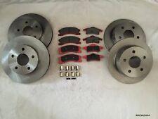 2x Front & 2x Rear Discs & Pads Jeep Grand Cherokee WJ 99-04 AKEBONO BRK/WJ/026A