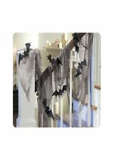 Bat Gauze Draping Room Decoration Kit Halloween Fancy Dress Party P9799