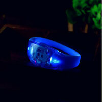 Voice Control Sound Activated Party Flash Bangle Bracelet Glow Wristbands LED