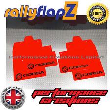 rallyflapz passend für Opel Corsa C (00-07) Schmutzfänger rotes Logo Schwarz 4mm
