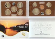 2018 US Mint Proof Set - With Box & COA - All 10 coins for 2018