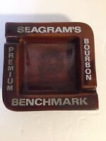 Vintage seagrams bourbon premium benchmark ashtray