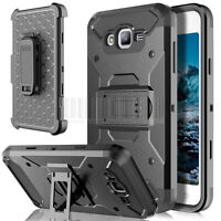 Impact Rugged Armor Holster Case Stand Rubber Cover For Samsung Galaxy J7 Neo