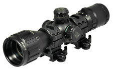 UTG 3-9X32 1 AO BugBuster RGB Mil-dot Rifle Scope with Free QD Rings